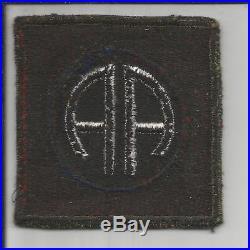 British Made WW 2 US Army 82nd Airborne Div. OD Border Blackback Patch Inv# X045