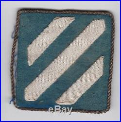 Bullion Theater Made 3rd Infantry Division Us Army Post Ww2 Wwii Ssi