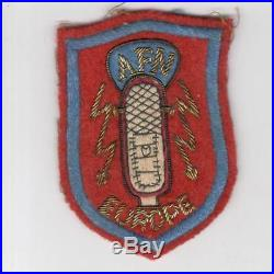 Bullion Theater Made WW 2 US Army Armed Forces Network Europe Patch Inv# H924