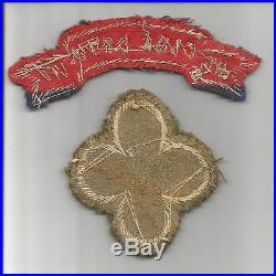 Bullion WW 2 US Army 88th Blue Devil Infantry Division Patch & Tab Inv# S585