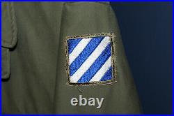Choice Original WW2 U. S. Army M43 Field Combat Jacket, Size 40R with3rd Army Patch