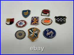 Collection of 10 US Army WW2 WWII Vintage Military Patches