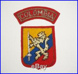Columbian Battalion Korea Bullion Theater Made Patch Post WWII UN US Army M3976