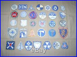 Complete set of WW2 US Army Corps with early variants and phantoms