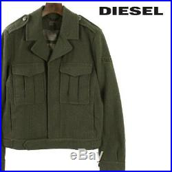 Diesel Men's Military Jacket Wool Blend US Army Ike WWII Vintage Design XL