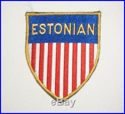 Estonian German Labor Service Patch Post WWII Occupation Bevo Made US Army P9695