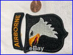 Fine RARE US ARMY 101st AIRBORNE Screaming Eagle WWII Patches