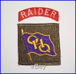 GHQ Raider Patch Set Korean War Post WWII US Army P7567