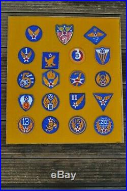 Genuine WWII WW2 US Army Air Force Airborne Patch Collection