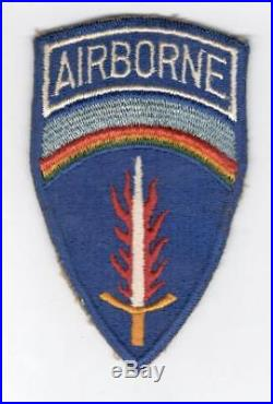 German Made US Army 577th Airborne Quartermaster Patch Inv# V647