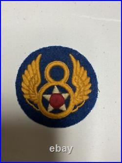 H0636 Original WW2 US Army 8th Air Force Shoulder Patch IR45A
