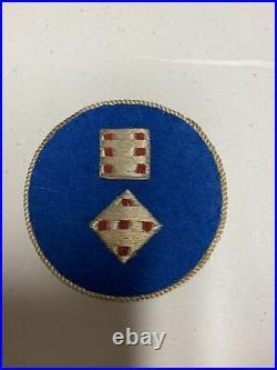 H0662 Original WW2 US Army 11th Corps bullion Shoulder Patch IR45A