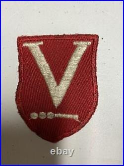 H0674 Original WW2 US Army Victory Task Force Shoulder Patch IR45A
