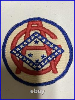 H0826 Original WW2 US Army Arkansas State Guard Shoulder Patch IR45A