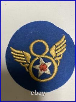 H0850 Original WW2 US Army 8th Air Force Shoulder Patch IR45A