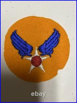 H0855 Original WW2 US Army AAF Air Force Shoulder Patch IR45A