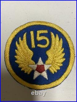 H0857 Original WW2 US Army 15th AAF Air Force Shoulder Patch IR45A