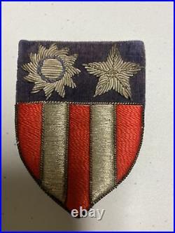 H0874 Original WW2 US Army China Burma India CBI bullion Shoulder Patch IR45A