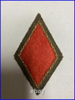 H0878 Original WW2 US Army 5 Infantry Division bullion Shoulder Patch IR45A