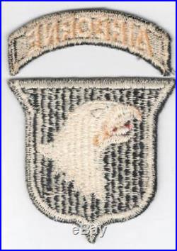 HTF Type 9 US Army 101st Airborne Division Patch & Correct Tab Inv# V633