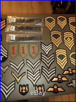 HUGE LOT 56 Assorted Military US Army Patch Collection Vintage WWII Vietnam
