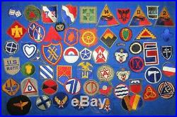 HUGE LOT OF 66 ORIGINAL CUT-EDGE U. S. MILITARY PATCHES WWII Army Air Corp