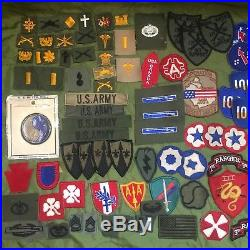 HUGE WW2 Vietnam US Army Military Over 100 Patch Badge Lot