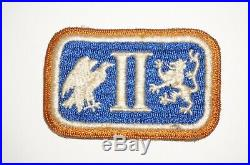 II Corps 2nd Corps Signal Corps Border Patch Early WWII US Army P9485