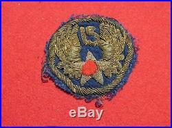 Italian made WWII US Army Air Corps 15th Air Force bullion theater patch AAF