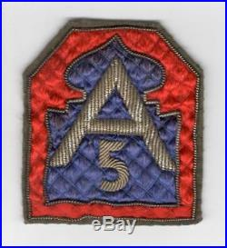 Japan Made Quilted Bullion US Army 5th Army Patch Inv# C328