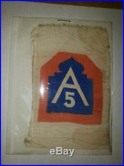K0042 Original US Army WW2 Shoulder Patch 5th Army WA1