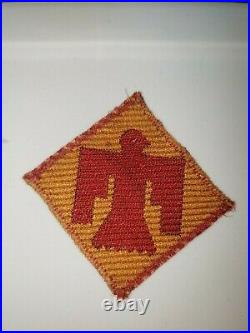 K0555 WW2 US Army 45th Infantry Division Patch WB-3
