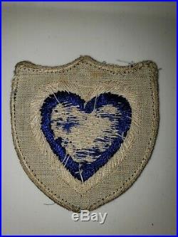 K0562 WW2 US Army XXIV Corps Bullion on Wool Patch WB-3