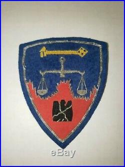 K2 WW 2 US Army Shoulder Patch Nuremberg Warm Crimes Trials WA3