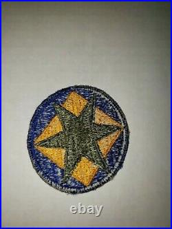 K9 WW 2 US Army Shoulder Patch 46th Infantry Division Ghost US Issue blue WA3