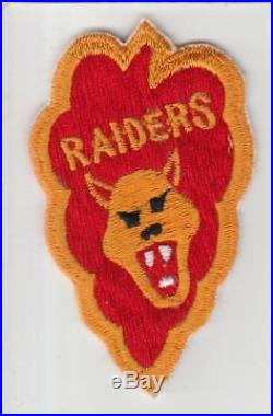 Korean War No Glow US Army 25th Infantry Division Raiders Patch Inv# S569