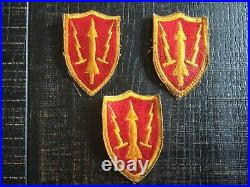 LOT OF 3 VINTAGE WWII US Army Military Air Defense Artillery Command Patches