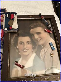 LOT WWII Korean US NAVY MEDAL RIBBON BARS Army Air CORPS PINS Bars Photo Patches