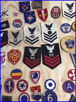 Large Lot of Vintage WWII U. S. MILITARY PATCHES Army Air Force & More 150+