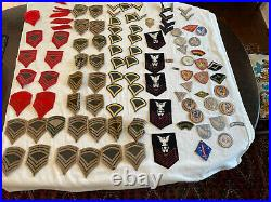 Lot 100+ US Army Air Force Navy Marines Military Patches WW2 Estate Collection