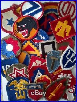 Lot 30 Patches US 1st 2nd 3rd 4th 5th Army 9th 25th 36th 45th Infantry div. WW2