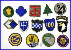 Lot 57 Original WWII US Army Infantry Division Shoulder Sleeve Patches 1st-106th