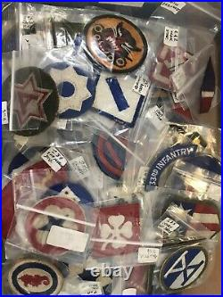 Lot Of 125 Identified WW2 Patches US Army Navy Marines Air Corps
