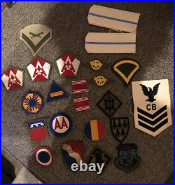 Lot Of 23 Original WWII US Army Patches MINT CONDITION Rare Pieces