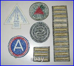 Lot US Army Military Patches WWII Third Army XIII & XXII Corp Bars SC