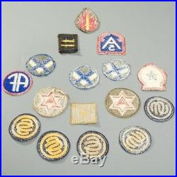 Lot of 16 US Military WWII Patches 63rd Infantry 5th Army Overseas Bars + MORE