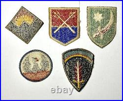 Lot of 18 Original WWII US Army Command Force Department Shoulder Sleeve Patches