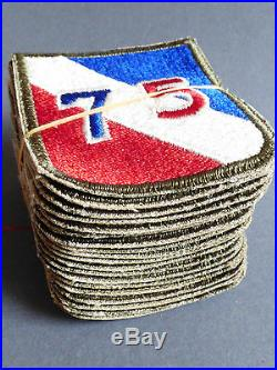 Lot of 20 VTG WW2 US Army 75th Infantry Division Patch patches set