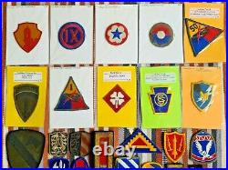 Lot of 45 WW2 Post WW2 US Army Patches