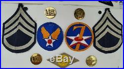 Lot of Vintage WW2 Air Transport Command US Army Air Force Military Patches Pins